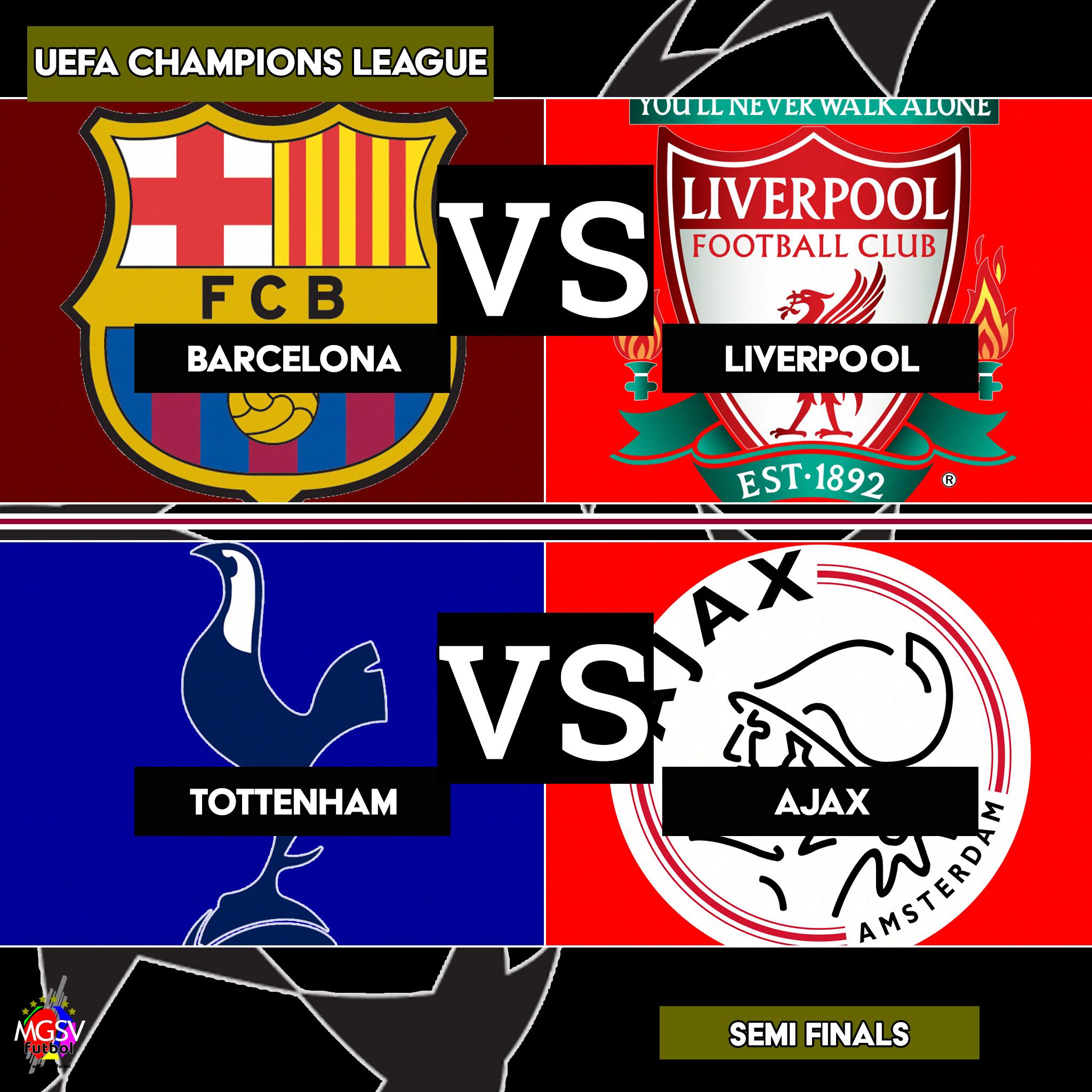 Tottenham Vs Ajax Semi Final: 2018/19 UEFA Champions League Quarter-finals